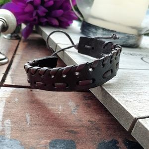 2 for $10 braided leather cuff bracelet.